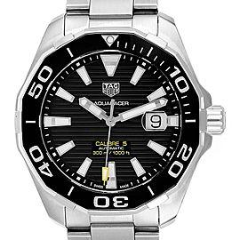 Tag Heuer Aquaracer Calibre 5 Black Dial Steel Mens Watch WAY201A