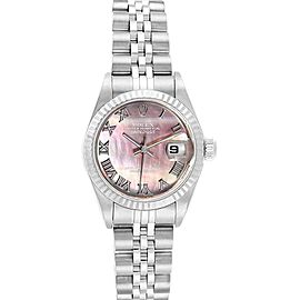 Rolex Datejust 26 Steel White Gold MOP Ladies Watch 79174