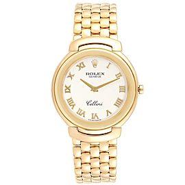 Rolex Cellini 18k Yellow Gold Roman Dial Mens Watch 6623
