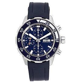 IWC Aquatimer Automatic Chrono Day Date Blue Strap Mens Watch IW376711
