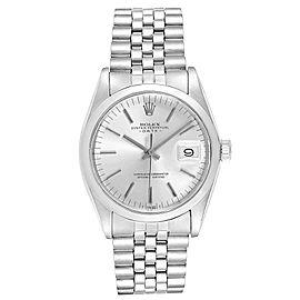 Rolex Date Silver Dial Jubilee Bracelet Vintage Mens Watch 1500