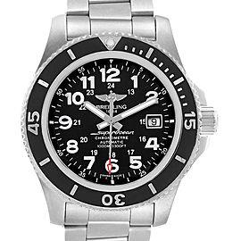 Breitling Superocean II 44 Black Dial Mens Watch A17392 Box Card