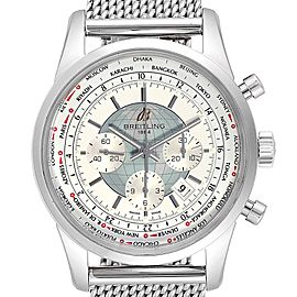 Breitling Transocean Chronograph Unitime Steel Mens Watch Watch AB0510