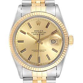 Rolex Datejust 36 Steel Yellow Gold Vintage Mens Watch 16013