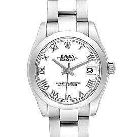 Rolex Midsize 31 Datejust White Dial Steel Ladies Watch 178240 Box Card