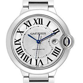 Cartier Ballon Bleu 42 Silvr Dial Automatic Steel Unisex Watch W69012Z4