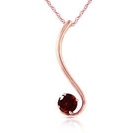 14K Solid Rose Gold Necklace with Natural Garnet
