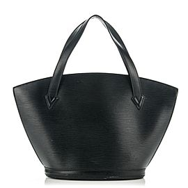 LOUIS VUITTON Black Epi Noir Saint Jacques Zip Tote 232439