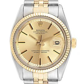 Rolex Datejust Steel Yellow Gold Sigma Dial Vintage Mens Watch 1601