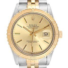 Rolex Datejust Turnograph Steel Yellow Gold Vintage Mens Watch 16253