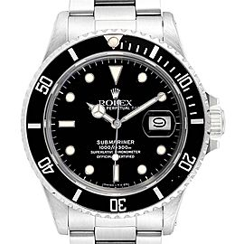 Rolex Submariner Date Steel Mens Vintage Watch 16800 Box
