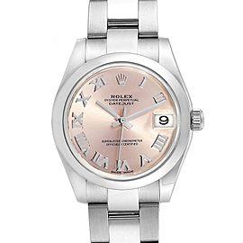 Rolex Midsize Datejust Rose Dial Steel Ladies Watch 178240 Box Card