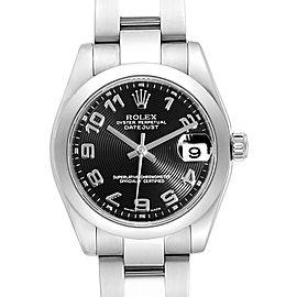 Rolex Datejust Midsize Black Concentric Dial Steel Ladies Watch 178240