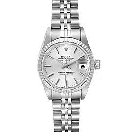 Rolex Datejust 26 Steel White Gold Silver Dial Ladies Watch 79174