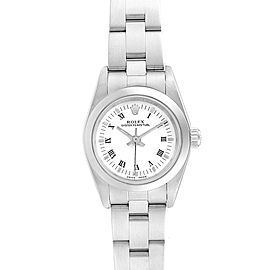 Rolex Oyster Perpetual Nondate White Roman Dial Ladies Watch 76080