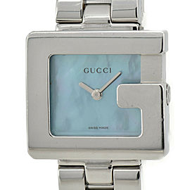 GUCCI 3600L Blue shell Dial SS Quartz Ladies Watch
