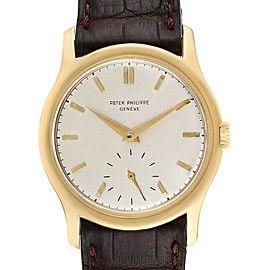 Patek Philippe Calatrava 18k Yellow Gold Vintage Mens Watch 2448