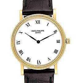 Patek Philippe Calatrava 18K Yellow Gold Automatic Mens Watch 3992