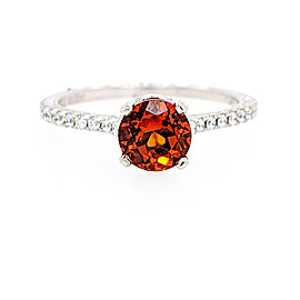 Jack Kelege KGR 1035 18k White Gold Citrine, Diamonds Ring