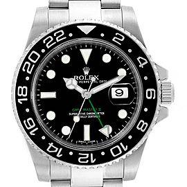 Rolex GMT Master II 40mm Green Hand Mens Watch 116710 Box Card