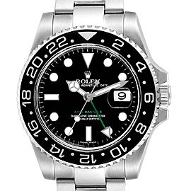 Rolex GMT Master II 40mm Green Hand Mens Watch 116710 Box Card