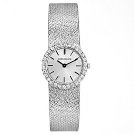 Jaeger LeCoultre 18K White Gold Diamond Vintage Coctail Ladies Watch