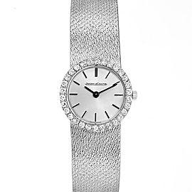 Jaeger LeCoultre 18K White Gold Diamond Vintage Coctail Ladies Watch