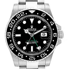 Rolex GMT Master II Green Hand Steel Mens Watch 116710 Box Card