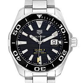 Tag Heuer Aquaracer Calibre 5 Steel Mens Watch WAY201A Box Card