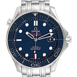 Omega Seamaster 41mm Co-Axial Blue Dial Mens Watch 212.30.41.20.03.001