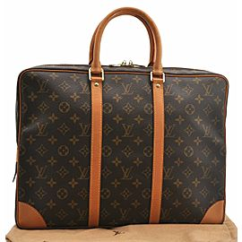Louis Vuitton Monogram Porte Documents Voyage Brief Case M53361