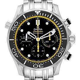 Omega Seamaster Regatta Yellow Hands Watch 212.30.44.50.01.002 Unworn