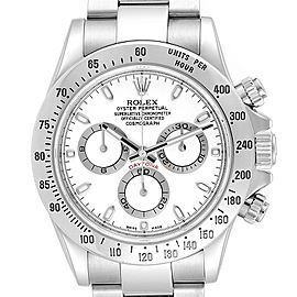 Rolex Cosmograph Daytona 40 White Dial Chrono Steel Mens Watch 116520