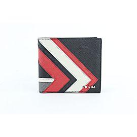 Prada Black Limited Saffiano Leather Bifold 19prz1912 Wallet