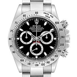 Rolex Daytona Black Dial Chronograph Stainless Steel Mens Watch 116520