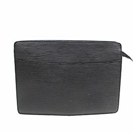Louis Vuitton Pochette Noir Homme 869544 Black Leather Clutch