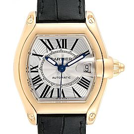 Cartier Roadster Yellow Gold Large Mens Watch W62005V2 Box Papers