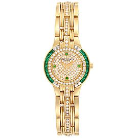 Patek Philippe Yellow Gold Diamond Emerald Ladies Watch 4786