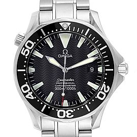 Omega Seamaster 41mm Black Wave Dial Steel Mens Watch 2254.50.00