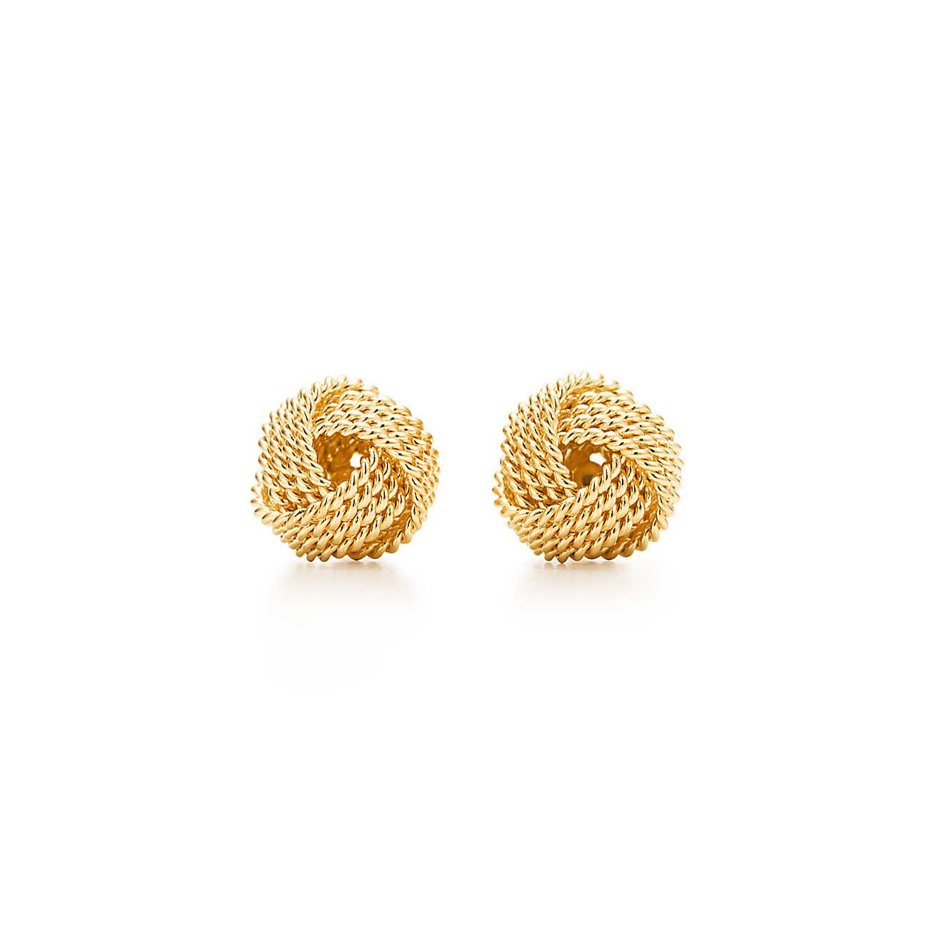 18k Yellow Gold Twist Knot Earrings Tiffany Co At Truefacet