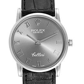 Rolex Cellini Classic Slate Dial White Gold Mens Watch 5116 Box Card