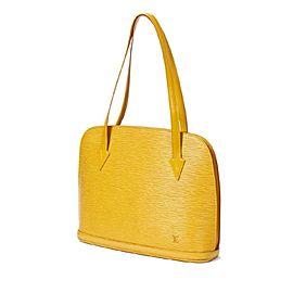 Louis Vuitton Lussac Tassil Zip Tote 869647 Yellow Leather Shoulder Bag