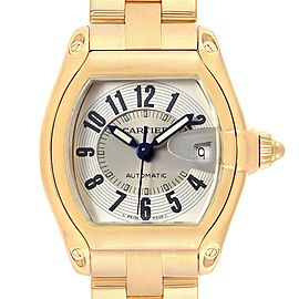 Cartier Roadster 18K Yellow Gold Large Mens Watch W62005V1