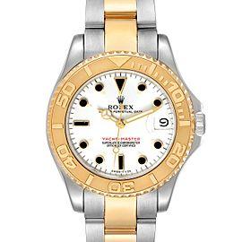 Rolex Yachtmaster 35 Midsize Steel Yellow Gold Unisex Watch 68623