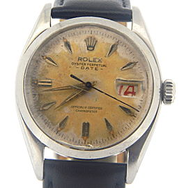 Mens Rolex Stainless Steel Date 6534