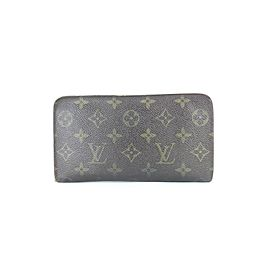 Louis Vuitton Monogram Zippy Long Wallet 3lj0111 Brown Coated Canvas Wristlet