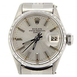 Ladies Rolex Stainless Steel Date Silver 6516