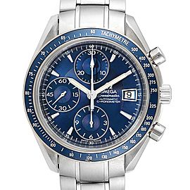 Omega Speedmaster Date Blue Dial Chrono Watch 3212.80.00 Box Card