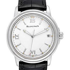 Blancpain Leman Ultra Slim White Dial Steel Mens Watch 2100 Box Papers