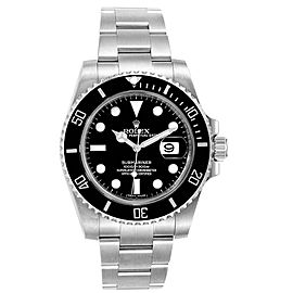 Rolex Submariner Ceramic Bezel Black Dial Steel Mens Watch 116610